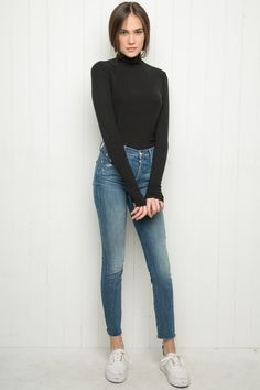 Brandy ♥ Melville | Johan Turtleneck Top - Turtlenecks - Tops - Clothing