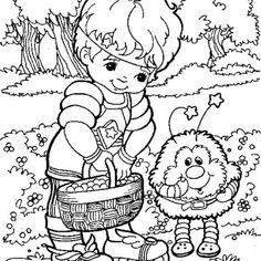 Rainbow brite Coloring Pages Online | Rainbow Brite Character Coloring Page