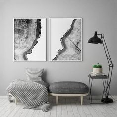 Tree Rings Print Set of 2 Prints Black and White Tree Print Large Wall Art 2 Piece Posters Wall Art Sets, Large Wall Art, Tree Rings, Black And White Wall Art, White Wood, Black And White Posters, Abstract Canvas, Painting Abstract, Wood Print