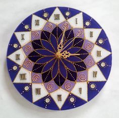 1 million+ Stunning Free Images to Use Anywhere Clock Painting, Clock Art, Dot Art Painting, Clock Decor, Mandala Art Lesson, Mandala Drawing, Mandala Painting, Glass Painting Designs, Paint Designs