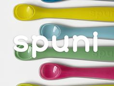 Spuni: a revolutionary first spoon for infants  An ergonomically ingenious spoon designed to help babies eat solid food with less mess. Dishwasher safe, non-toxic, Phthalate (BPA & BPS) and PVC free.