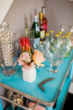 stripe straws in apothecary jar Photography By / http://kellybramanphotography.com,Styling   Flowers By / http://heygorgeousevents.com