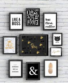 Vous aviez adorer les posters à imprimer Gold et Black (Plus de 20000 partages sur Pinterest vous êtes fous^^), je reviens aujourd'hui avec une sélection idéale pour les chambres de petite fille, …