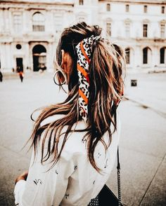 ponytail style, ponytail, hair up, up-do, scarf ponytail, scarf style