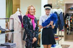 Ольга Аленова и Надя Шаповал в киевском бутике Symbol Passage