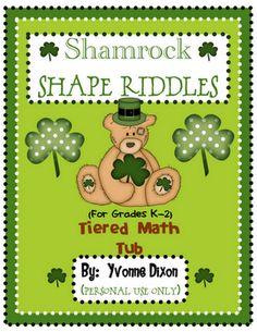 Shamrock Shape Riddles for differentiation K-2!  sassyinsecond.blo...