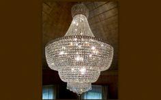 Lampen Leuchten Kronleuchter aus Muranoglas von Zang im Empirestil