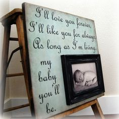 """Love this! From the book """"Love You Forever"""" AW! i NEED this for my mom!"""