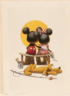 Disney Puppy Love Mickey and Minnie mouse Limited Edition lithograph Print COA Disney Mickey Mouse, Arte Do Mickey Mouse, Walt Disney, Mickey Mouse Y Amigos, Disney Amor, Mickey And Minnie Love, Retro Disney, Mickey Mouse And Friends, Disney Magic