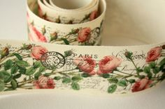 NEW Roses Wide Cotton Tape via Etsy