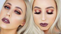Tarte Tarteist Pro Palette Makeup Tutorial   Purple Gold Halo Eye