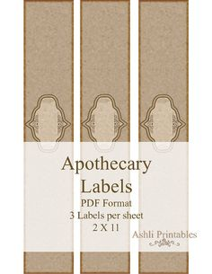 Apothecary Printable Soap Labels Vintage by AshliPrintables, $7.00
