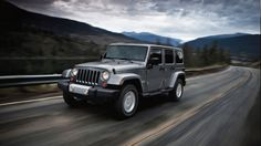 2013 Jeep Wrangler Unlimited Sahara shown in Billet Silver with matching hardtop.