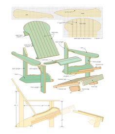 Adirondack Chair Plan designed for elderly to get up