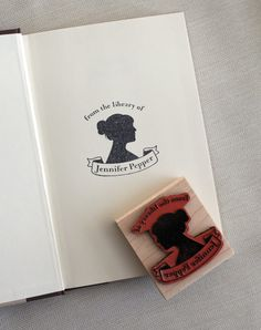 Personalized Bookplate Stamp Gift Set rubber stamp by chattypress