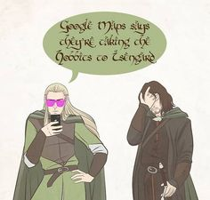 "I have to laugh at all the ""Party"" Thranduil and Legolas pictures, some are pretty hysterical!"