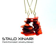 Handmade earrings with Red Shells and ethnic by SXtheArtConcept, €15.00