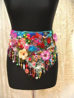 Silk bohemian art belt gypsy belt hand made belt beaded Bohemian Art, Boho Gypsy, Silk Ties, Boho Dress, Wearable Art, Boho Fashion, Art Clothing, Clothing Ideas, Coachella Style