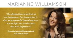 Marianne Williamson is an internationally acclaimed spiritual author and lecturer.