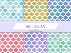 Digital paper moroccan paper moroccan by GiuliaBelfioriGadget