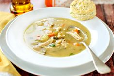 Turkey Pot Pie Soup www.SimplyScratch.com