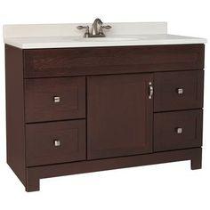 American Classics - 48 Inch Java Oak Gallery Vanity - GJVO48D - Home Depot Canada