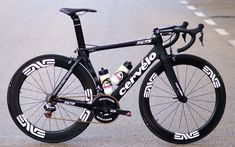 Cervélo S5 used by Team MTN Qhubeka. Equipped with ENVE wheels, ROTOR rings and cranks, KMC chain, 3T cockpit, and Sella Italia saddle