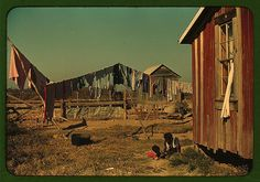 Backyard of Negro tenant's home, Marcella Plantation, Mileston, Miss. Delta , 1939