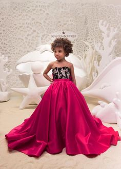 821da0363 Fuchsia and Black Flower Girl Dress - Birthday Wedding Party Holiday  Bridesmaid Flower Girl Fuchsia