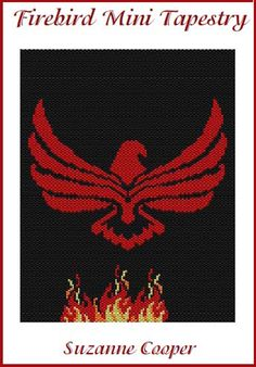 FIREBIRD MINI TAPESTRY by Suzanne Cooper | Bead-Patterns.com