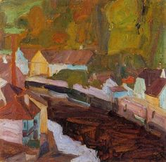 Egon Schiele, Village by the River on ArtStack #egon-schiele #art