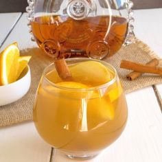 Cognac apple cider. A quick and easy drink that is great to cosy up to the fire with.