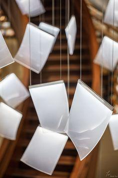 Chandelier Pendant Lights, Pendant Lamp, Modern Lighting, Lighting Design, Bookstore Design, Light Fest, Elevator Design, Old Oak Tree, Modern Stairs