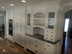 Kitchen refinished by Chameleon Painting SLC, UT. In Benjamin Moore Swiss Coffee. Decor, Refinishing Cabinets, Kitchen Refinishing, Kitchen Cabinets, Cabinet, Refinishing Furniture, Home Decor, Kitchen, Laundry Room Cabinets