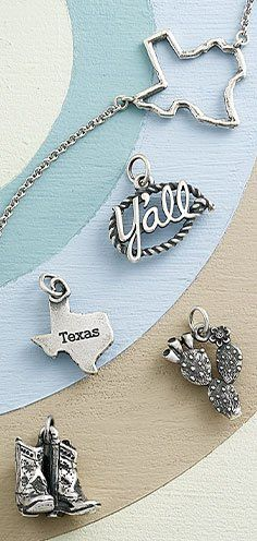 Natural Texas Necklace on Turquoise Chain Texas Jewelry Texas Gift Lone Star State