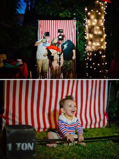 This Vintage Circus Baby Shower is amazing! Interactive, festive, and so cool!