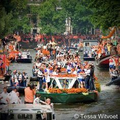 Grachtentocht Nederlands Elftal WK 2010