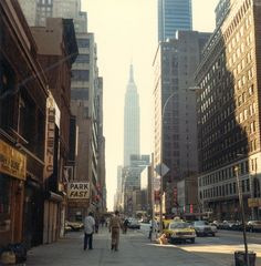 New York Empire State Building in 1978 on 34th street near 9th avenue by david Watts.