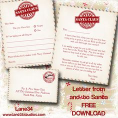 letter from santa claus elf on the shelf reindeer letter to santa christmas fun free printable Merry Little Christmas, All Things Christmas, Christmas Holidays, Christmas Crafts, Christmas Ideas, Christmas Planning, Christmas 2017, White Christmas, Christmas Activities