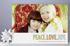 Three Words Holiday Photo Cards by Waui Design at Minted.com