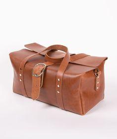 86c8b9c48d32 Handmade Leather Duffel Bag - Medium