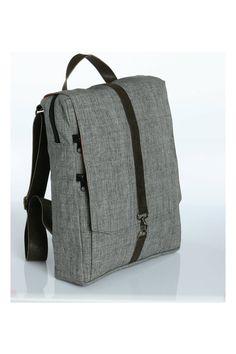 Grey Cotton 15 Laptop backpack Vegan Laptop di Begforabag, $85.00