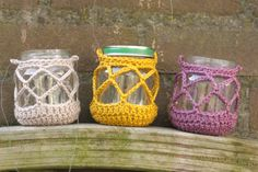 Candle jar covers! freebie of course, so cute: link here, thanks so xox http://littlezdesign.blogspot.nl/2013/06/diy-summer-candles.html