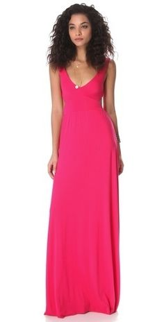 Hot pink is always hot. This is the truth! Rachel Pally Cutout Maxi Dreess. $119