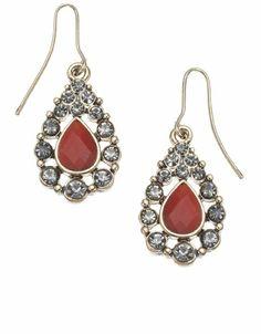 Accessorize Damen Winzige strassbesetzte Tropfenohrringe Größe Einheitsgröße Schwarz   Your #1 Source for Jewelry and Accessories