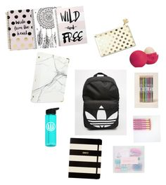 """Back to school supplies"" by maryam-abushabab on Polyvore featuring art"