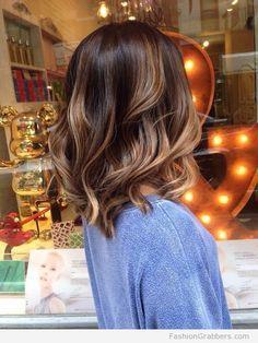 perfect soft brunette balayage