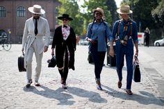 On the street at Pitti Uomo in Florence. Photo: Imaxtree.