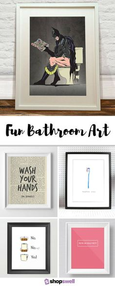 Liven Up Your Home Bathroom With One Of These Fun Prints For The Wall.  Eyebrow Makeup Tips