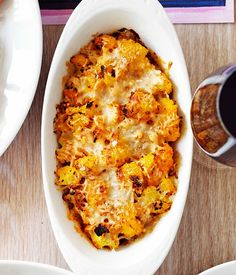 Australian Gourmet Traveller recipe for cauliflower and saffron gratin by David Young from Cafe Nice in Sydney. A really satisfying side dish - great comfort food this Christmas